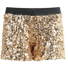 24,90EUR Paillettenshort goldene Shorts mit Pailletten