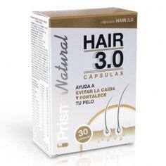 HAIR 3.0 CAPSULAS ANTI-CAIDA  HAIR 3.0 cápsulas es un complemento alimenticio complejo que por su composición rica en aminoácidos, vitaminas, minerales y plantas proporcionará a tu cabello los nutrientes necesarios para evitar la caída excesiva de cabello, estimulará el crecimiento, lo fortalecerá y le dará ese aspecto de vitalidad que siempre has deseado.