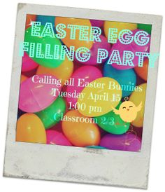 Easter Egg Filling Party