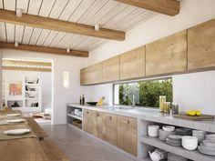 Nice use of concrete and natural wood.