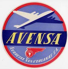 Airlines    Vintage-Looking  Sticker//Decal//Luggage Label SAS Scandinavian