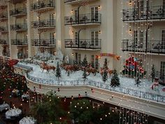 Opryland Hotel decorated for Christmas with Aunt Pam and Grandma and Grandpa.