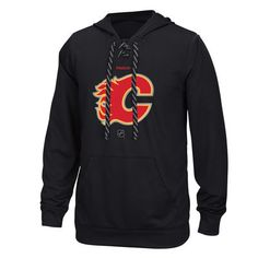 New Jersey Devils Reebok Center Ice TNT Logo Reflect Performance Hoodie - Black Pullover Hoodie, Crew Neck Sweatshirt, Graphic Sweatshirt, Columbus Blue Jackets, New Jersey Devils, Anaheim Ducks, Reebok, Vancouver Canucks, Toronto Maple Leafs