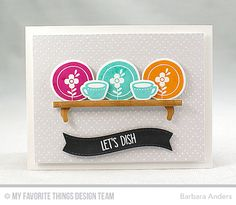 Handmade card from Barbara Anders featuring Kitschy Kitchen Card Kit #mftstamps