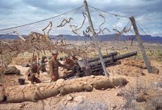 US soldiers at battle of El Guettar in Tunisia, 1943