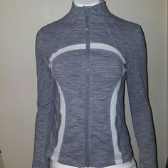 FINAL FINAL SALE PRICE  DISCONT. Lululemon DEFINE RARE LULULEMON DEFINE JACKET, WEE STRIPE  GREY AND WHITE, MOISTURE WICKING MATERIAL, VENTS IN THE ARMPITS AND BACK W 2 FRONT ZIP POCKETS. Free nwt lipgloss and tank w/prchase100% Proceeds go to families from fraud. A single mom and her 3 kids were left destitute by her ex husband after he fled indictment by the FBI. No child support/alimony and no warning. Their whole life was a lie and now their left to pick up the pieces through foreclosure…