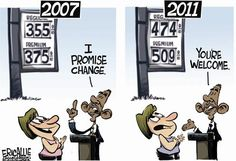 While you can't just blame the president for gas prices (although he would never hesitate to blame his predecessor), the bottom line is he hasn't a single clue how to help lower them.
