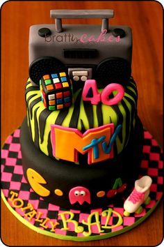 80's Cake | Client surprised her sister with this cake for h… | Flickr