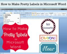 How to Make Cool Labels in Microsoft Word
