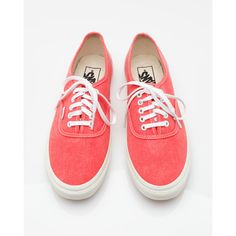 Vans Authentic Slim Hot Coral ($50) ❤ liked on Polyvore