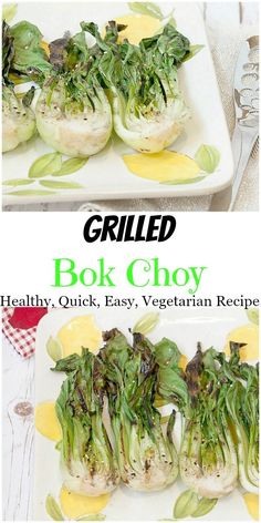 Sesame Ginger Grilled Bok Choy recipe - cooks in 5 minutes for a healthy dinner instead of salad