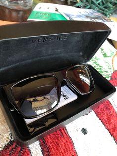 88bca36b1601 VERSACE VE4296 Gb1 87 59mm Grey UV Lens Black Frame Men s Sunglasses   fashion