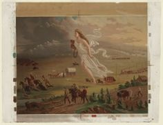 """Westward Expansion and """"manifest destiny"""": American Progress by John Gast Mexican American War, Early American, American History, European American, American Children, American Literature, Shocking Quotes, History Lesson Plans, American Exceptionalism"""