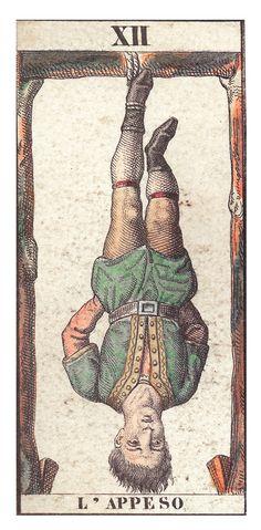 Arcanes : Le Pendu, hanged man. Tarot card