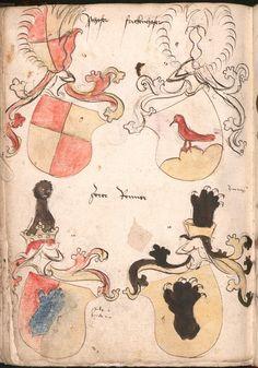 Wernigeroder (Schaffhausensches) Wappenbuch Süddeutschland, 4. Viertel 15. Jh. Cod.icon. 308 n  Folio 235v