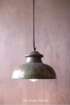 Sale - Modern rustic metal vintage pendant light. This farmhouse lighting, industrial pendant lamp features a beautiful multi-colored copper finish that will make a statement in any room of your home. FREE SHIPPING #CuteLamps