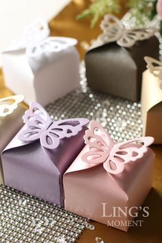 Free Shipping 100pcs Butterfly Favor Boxes by BlissByLingsMoment