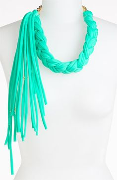 Braided and fringed scarf