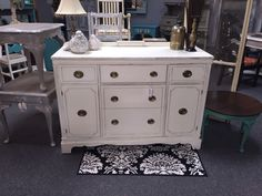 Antique White Duncan Phyfe sideboard