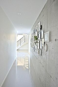 cement wall in the hall