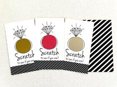 set of 10 or 24 cards - bridal shower game - scratch off cards - Black/White - hipster modern wedding by janetmorrin on Etsy