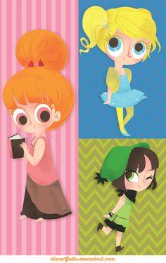 Trendy PPG by ilianaGatto on DeviantArt Super Nana, Super Cute, Ppg And Rrb, Powerpuff Girls, Buttercup, Pikachu, Deviantart, Cartoon Network, Creative