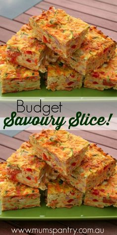 Budget savoury slice … is part of Savoury slice - Vegetable Slice, Vegetable Dishes, Vegetable Recipes, Vegetarian Recipes, Healthy Recipes, Savory Muffins, Savory Snacks, Savoury Dishes, Savoury Recipes