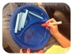 What the Teacher Wants!: Adding Ten I love these plates for part-part-whole problems Can be used with place value chips too