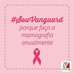 A partir dos 40 anos, toda #mulher deve fazer a #mamografia anualmente. A mamografia é um #exame de diagnóstico por imagem, que estuda o tecido mamário. Com esse exame pode-se detectar um nódulo, mesmo que ainda não seja palpável. #SouVanguard #OutubroRosa #CâncerDeMama