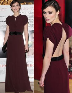 keira_knightley Keira Knightley, Keira Christina Knightley, Mom Dress, Dress Up, Vestidos Color Vino, Minimal Dress, Fiesta Dress, Gowns With Sleeves, Hot Outfits