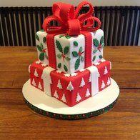 Christmas present cake