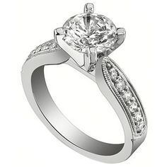 Classic Tapered Engagement Ring by http://www.engagediamonds.com/