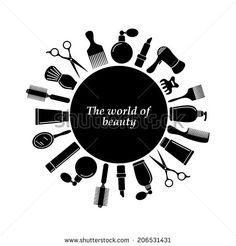 Hair salon logo - stock vector