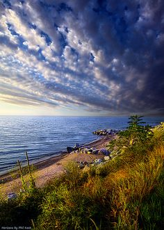 ~~Wisconsin Beaches ~ dramatic clouds, autumn at Lake Michigan by Phil-Koch~~