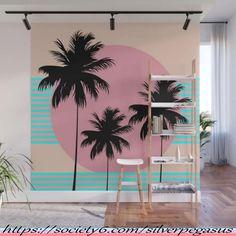 Hello California - Ocean Breeze Wall Mural by silverpegasus Beach Wall Murals, Tree Wall Murals, Mural Wall Art, Mural Painting, Wood Wall Art, Decoration, Art Decor, Boutique Decor, Dream Wall
