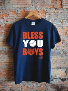 Bless You Boys - Navy Tee from Ink Detroit! #Detroit #tigers #mlb #baseball #theD #inkdetroit #mens #fashion