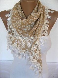 Scarf  ShawlElegant Scarf Fashion Scarf  by SmyrnaShop on Etsy, $13.90