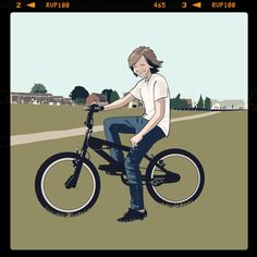 A boy and his BMX in Barnsley.