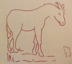Donkey Block for Farm Quilt (lasassone) Tags: donkey redwork rubymckim farmquilt