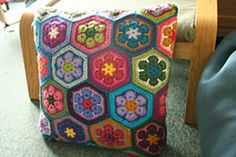 free pattern african flower full and half