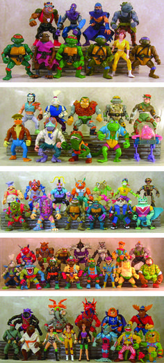 This line of TMNT figures were produced from 1988 - 1992.  I can remember as a child, having almost all of these.