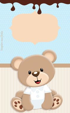welcome baby fares Baby Boy Scrapbook, Scrapbook Bebe, Teddy Bear Party, Teddy Bear Baby Shower, Baby Shower Niño, Diy And Crafts, Paper Crafts, Paper Toys, Baby Shower Invitaciones