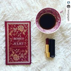 Amazing combination @lexigagan #bookstagramwiz #Repost @lexigagan with @repostapp A classic a cup of coffee and a Chanel lipstick. The three things which my life is evolved around Recently bought this gorgeous leather bound @barnesandnoble edition of Romeo and Juliet - isn't it pretty?! haven't read it in a long time and it's been such a pleasure reading through it again #bookandmug by @the_infinite_book_dragon #beautifulbookcover by @herandherstories #bibliophile #chanel #bookstagram…