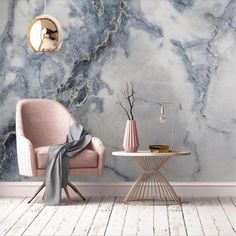 3D Quality Marble Wallpaper - 160W x 100H inches / Non-woven Paper