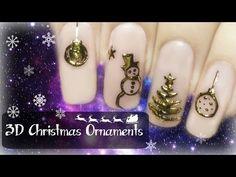 Christmas Nail Art Ideas - Snowflake, Snowman, Christmas Tree Nails - YouTube