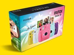 İnstax Mini 9 Ambalaj Tasarımı Instax Mini 9, Fujifilm, Packaging Design, Photoshop, Illustration, Package Design, Illustrations, Character Illustration
