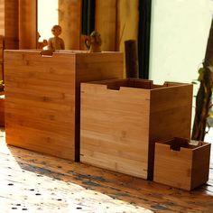 寸村创意斗简易实木楠竹置物架收纳盒储物架多功能原创设计MUJI风