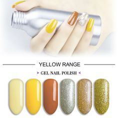 Gel Polish Colors, Gel Nail Polish, Xmas Nails, Christmas Nails, Petra, Orange, Yellow, Gel Top Coat, Soak Off Gel Nails