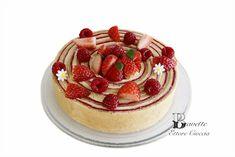 Tarta Fraisier con crema Mousseline y compota de fresas