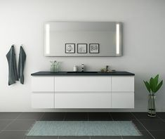 Bad galleri - Inspiration til dit badeværelse - kitchn. Scandinavian Style Home, Luxury Homes Interior, House In The Woods, Bathroom Inspiration, Bathroom Ideas, Home Renovation, My Dream Home, New Homes, Lounge